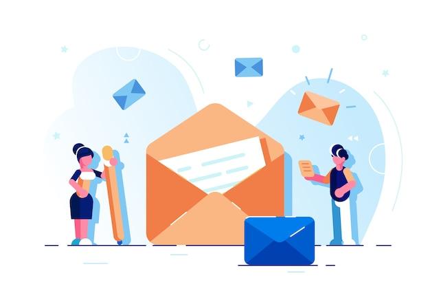 Página de inicio de la ilustración enviar mensaje