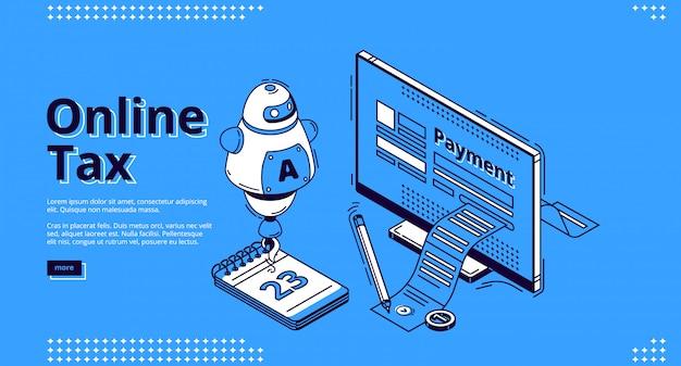Página de inicio de impuestos en línea, transacciones digitales