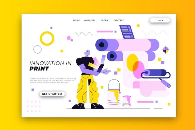 Página de inicio de la industria de impresión plana