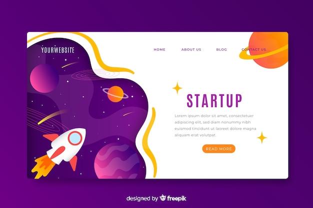 Página de inicio de inicio de negocios