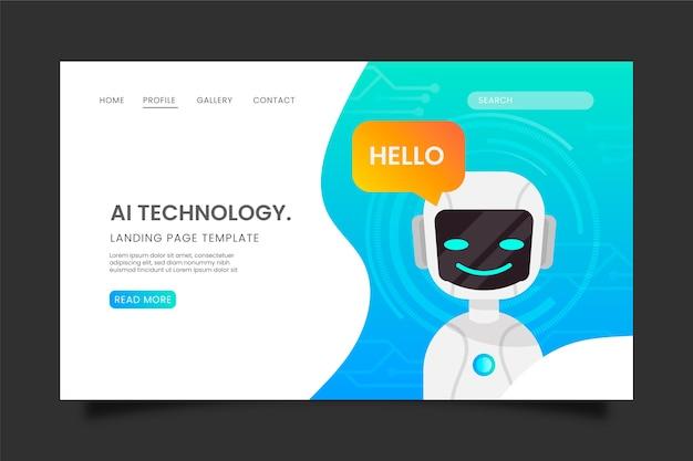 Página de inicio de inteligencia artificial
