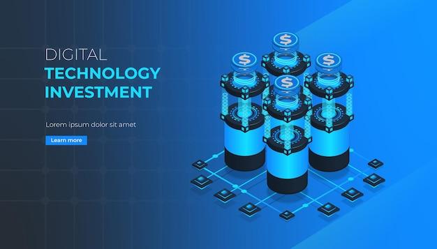 Página de inicio de inversión en tecnología digital