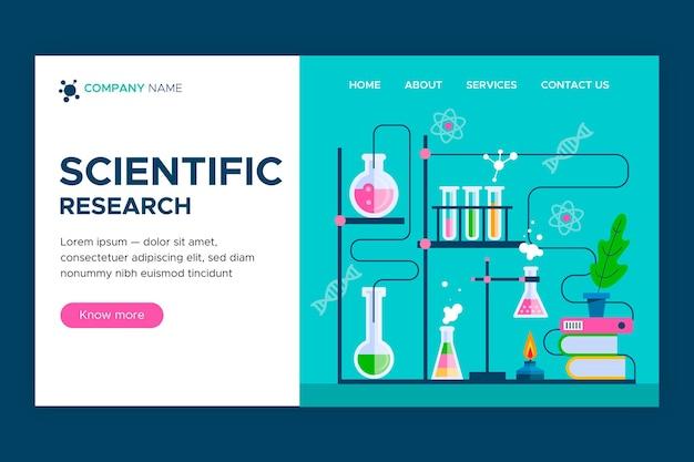 Página de inicio de investigación científica