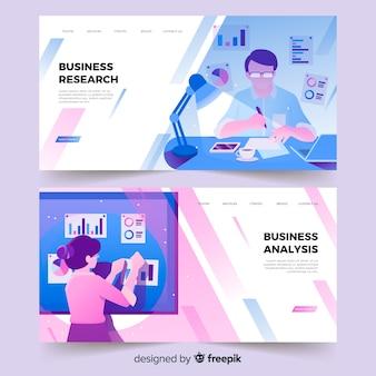 Página de inicio de investigación empresarial