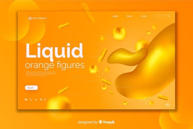 Página de inicio de líquido dorado