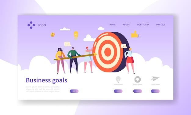 Página de inicio de logro de objetivos comerciales