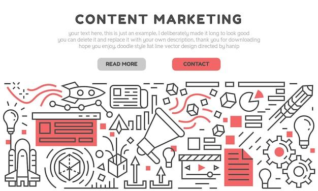 Página de inicio de marketing de contenido