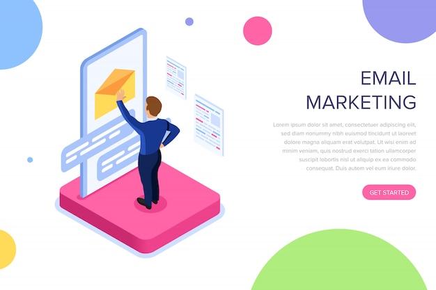 Página de inicio de marketing por correo electrónico