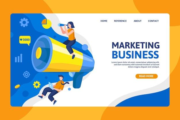 Página de inicio de marketing empresarial seo