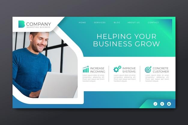 Página de inicio de marketing empresarial