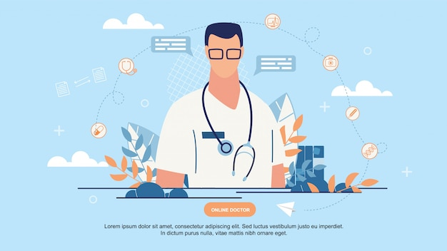 Página de inicio del médico en línea