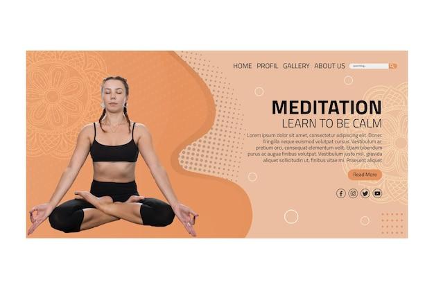 Página de inicio de meditación y atención plena