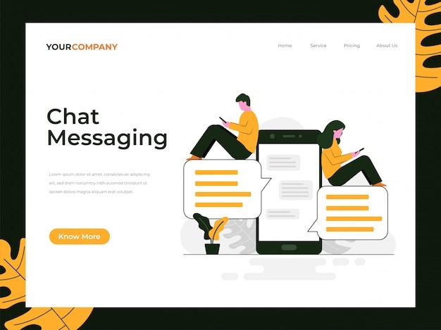 Página de inicio de mensajería de chat