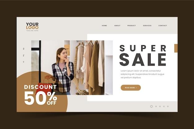 Página de inicio de moda de súper venta