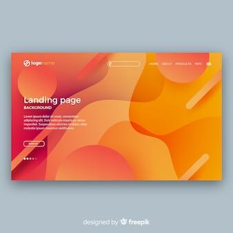 Página de inicio moderna con diseño abstracto