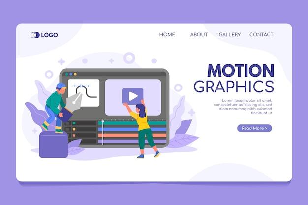 Página de inicio de motiongraphics orgánico plano