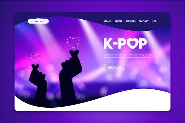 Página de inicio de música k-pop