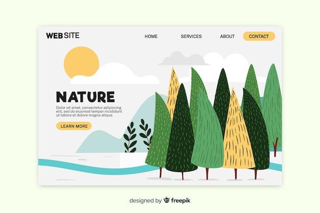 Página de inicio de la naturaleza moderna