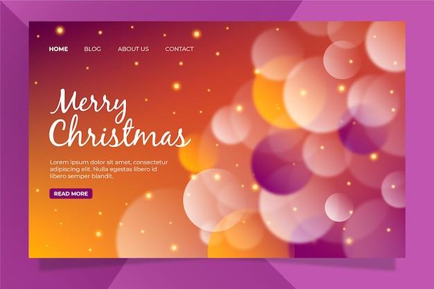 Página de inicio de navidad borrosa