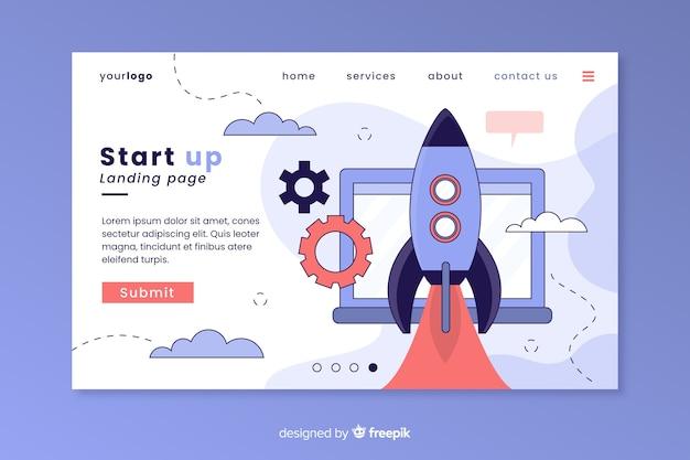 Página de inicio de negocio de inicio