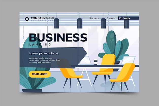 Página de inicio de negocios corporativos