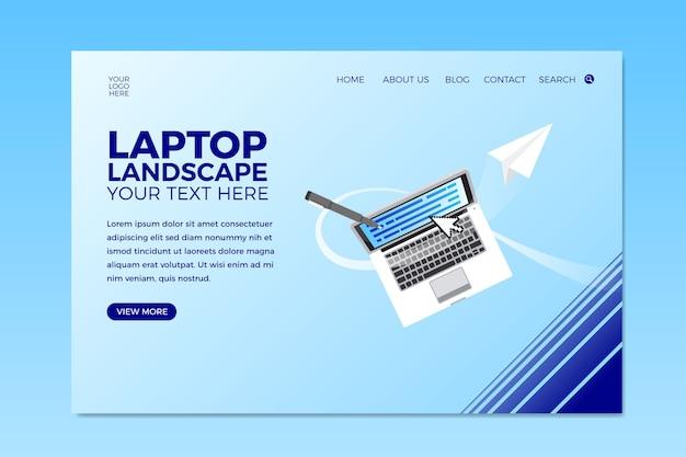 Página de inicio de negocios con diseño lapto