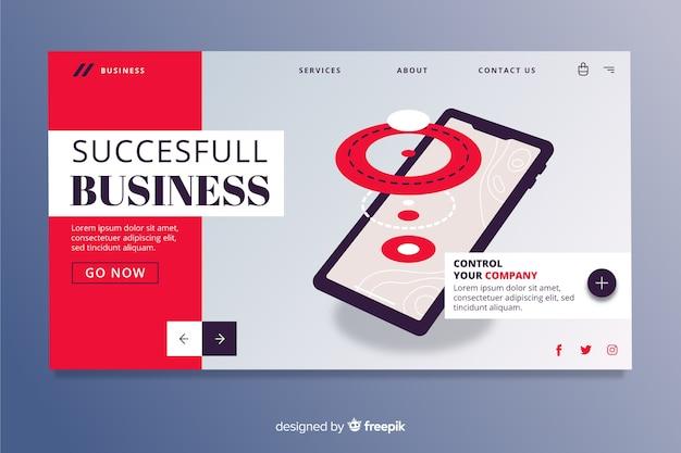 Página de inicio de negocios exitosa