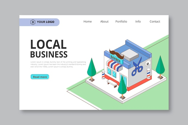 Página de inicio de negocios locales