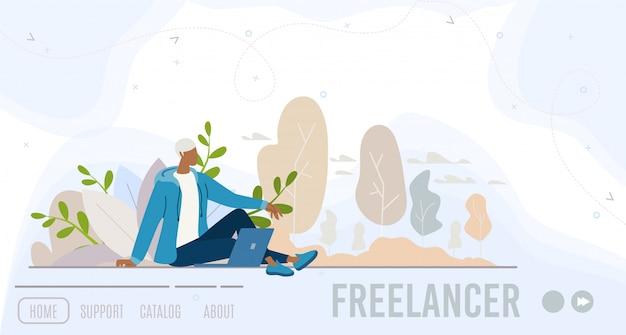 Página de inicio de negocios para trabajo distante