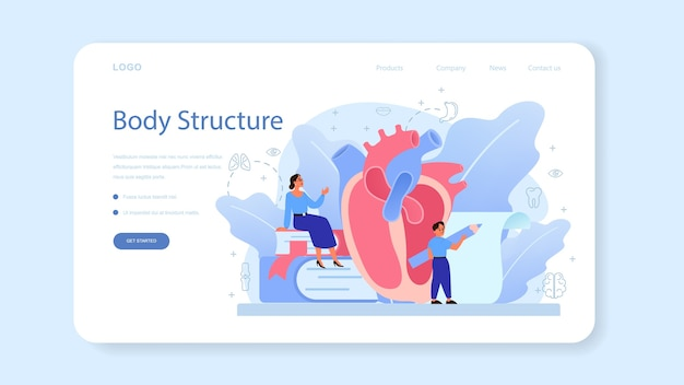 Página de inicio o banner web de asignatura de la escuela de anatomía.