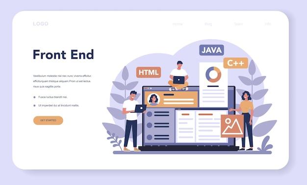 Página de inicio o banner web de desarrollo frontend