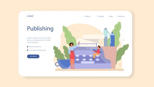 Página de inicio o banner web de materias escolares de literatura