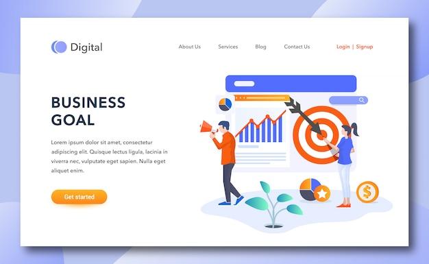 Página de inicio de objetivos comerciales creativos