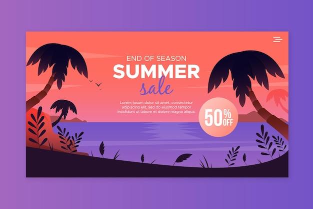 Página de inicio de ofertas de verano de fin de temporada