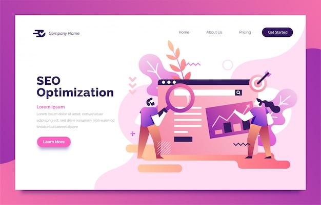 Página de inicio de optimización seo para web