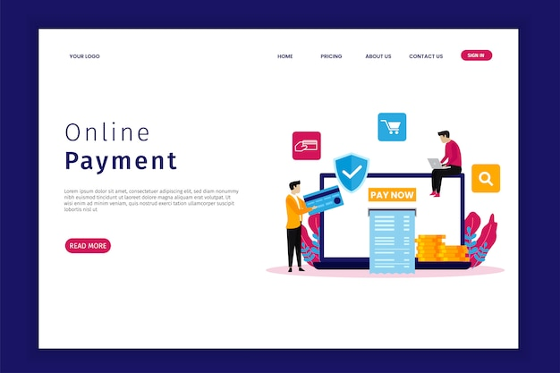 Página de inicio de pago en línea