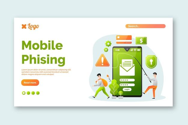 Página de inicio de phishing móvil