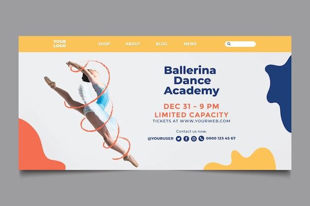 Página de inicio de plantilla de academia de baile