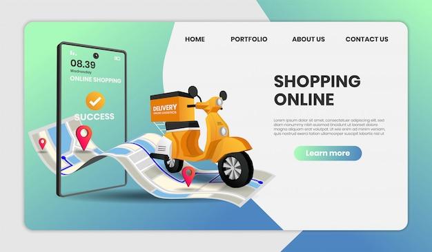 Página de inicio de la plantilla de compras en línea