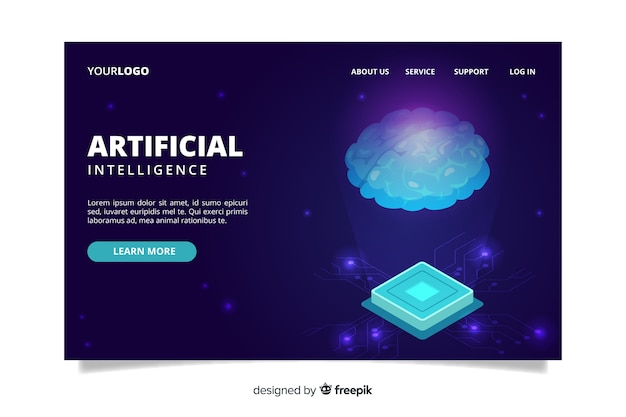 Página de inicio de plantilla de inteligencia artificial
