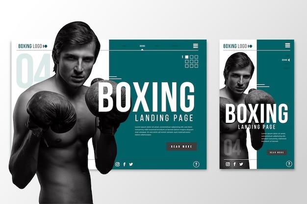 Página de inicio de plantilla web para el boxeo