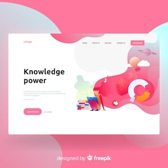 Página de inicio de poder de conocimiento