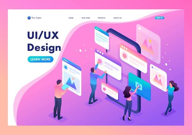 Página de inicio del proceso de creación de un diseño de aplicación, ui ux