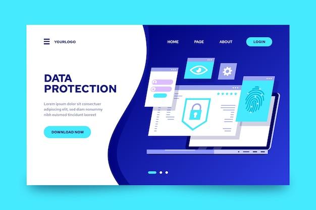 Página de inicio de protección de datos
