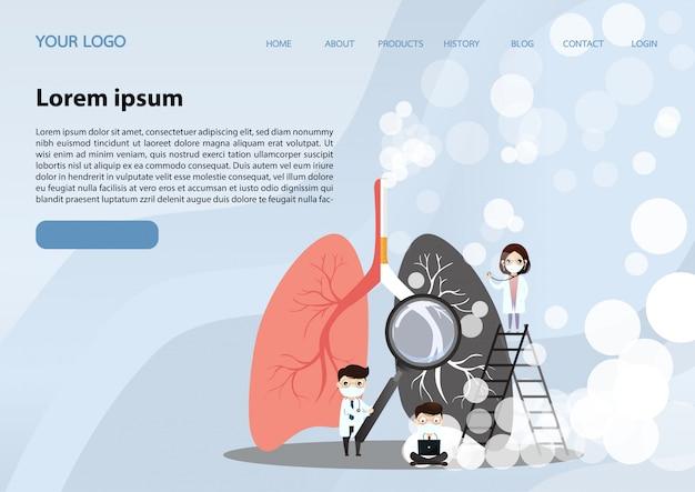 Página de inicio de pulmones humanos
