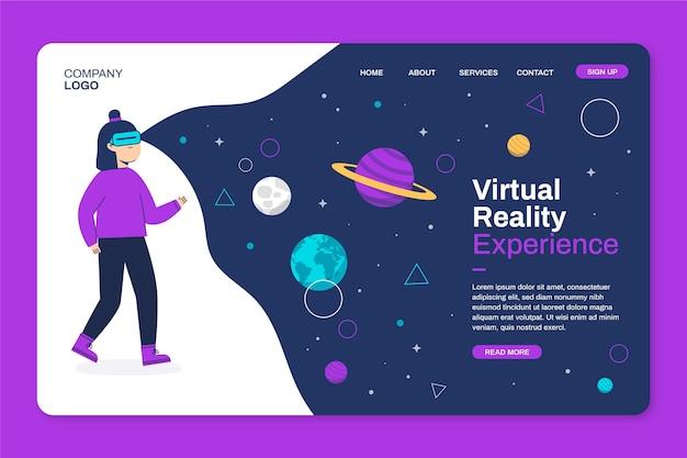 Página de inicio de realidad virtual