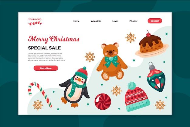 Página de inicio de rebajas navideñas