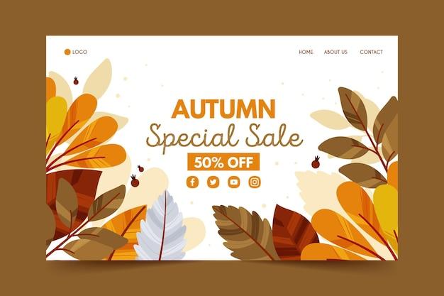 Página de inicio de rebajas de otoño