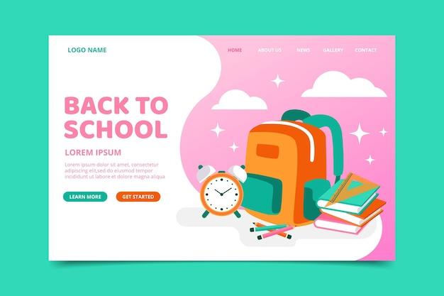 Página de inicio con regreso a la escuela