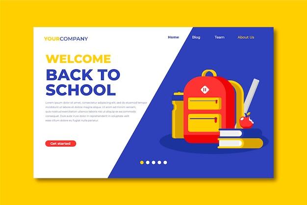 Página de inicio de regreso a la escuela